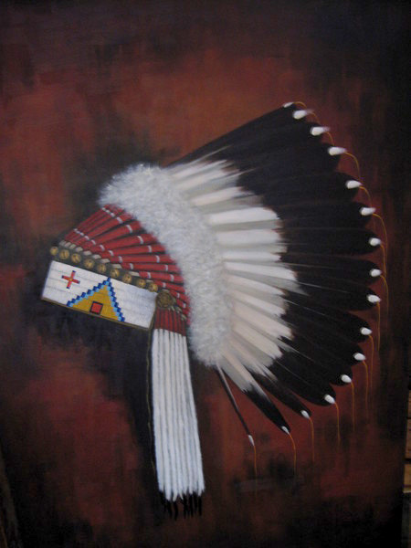 Tom Lucas Buffalo Head Dress
