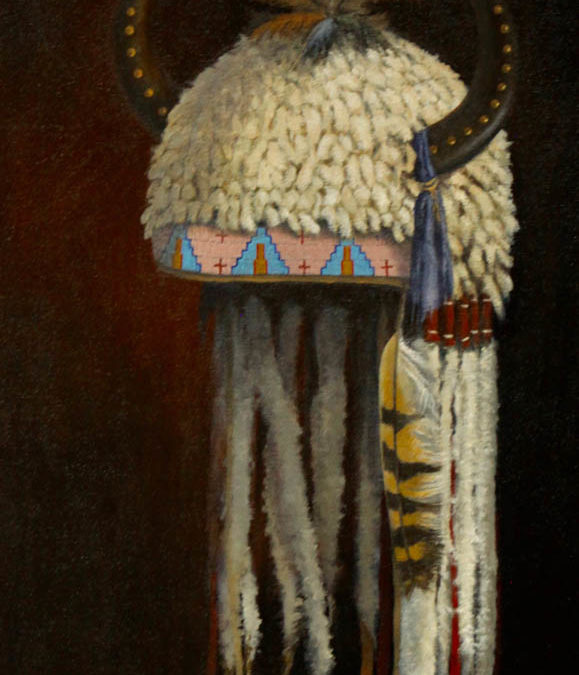 Blackfoot Horned Headdress  Oil